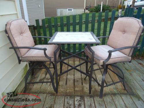 Unique Pub Style Patio Set