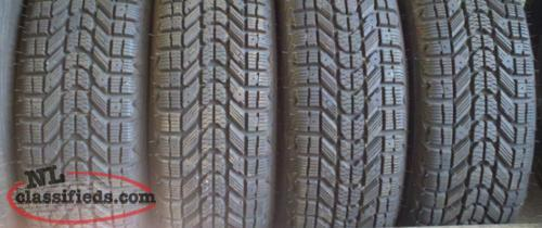 Selling 4 235/70/16 directional snow tires and rims