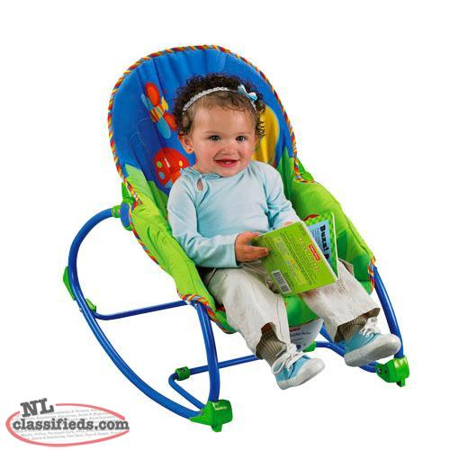 Infant to toddler rocker - Washable padding,kick stand - $15