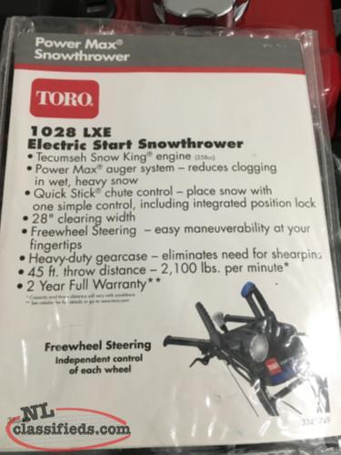 toro power max snowthrower 1028 lxe