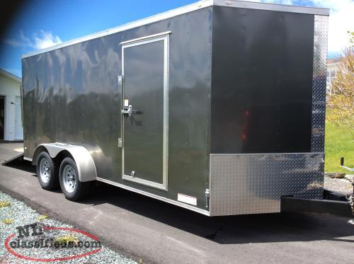 """NEW"" 2017 V. Nose (7 X 18) Utility Trailer"