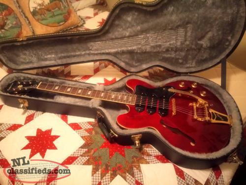 Epiphone Semi-Hollowbody With HSC... will trade for 12' Aluminum Boat