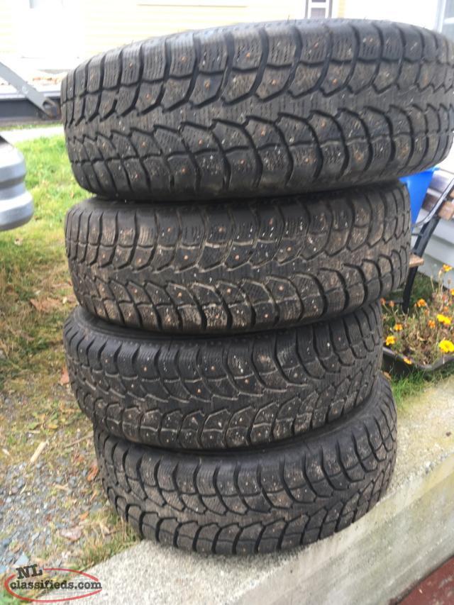 studded winter tires for sale upper island cove newfoundland labrador nl classifieds. Black Bedroom Furniture Sets. Home Design Ideas