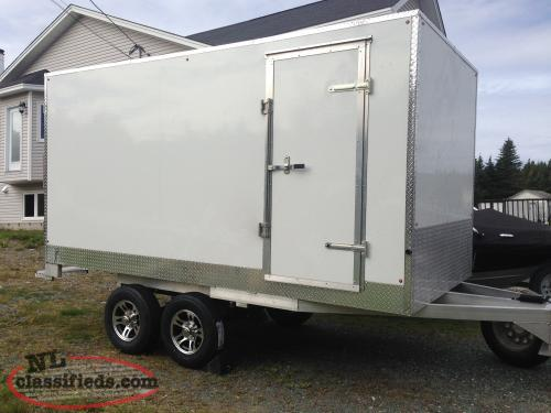 7x14 aluminium enclosed cargo trailer