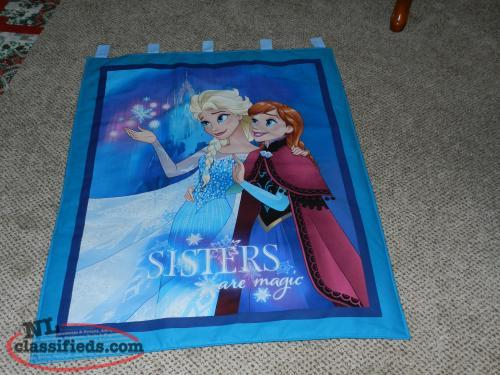 "FOR SALE A NEW ""FROZEN--SISTERS ARE MAGIC "" WALL HANGING"