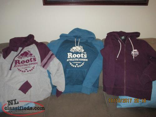 Roots brand name hoodies