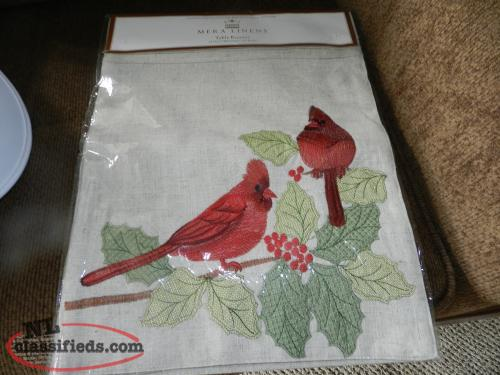 "For sale a New ""Cardinals"" 14 by 72 inch runner--still in sealed pack"