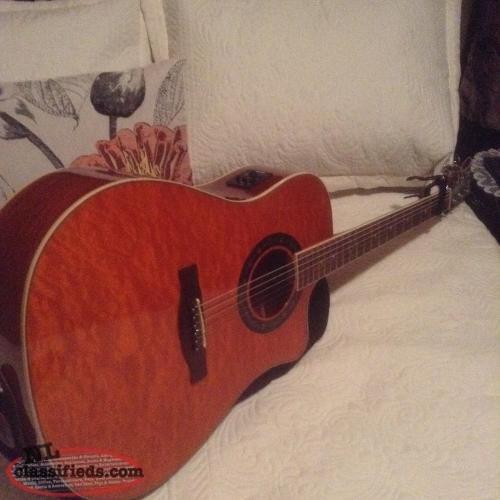 6 string Fender acoustic electric guitar
