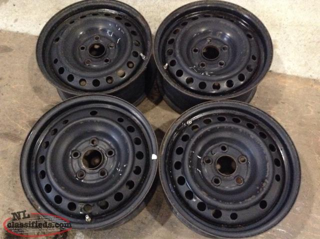 "16"" Steel Rims with 5 lug x 120mm Bolt Pattern ( with sensors)"