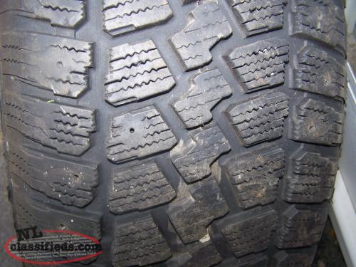 4 235/60/16 winter tires on ford rims