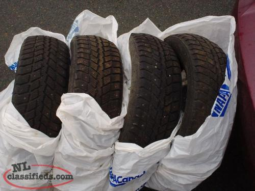 185/65R14 Studded Winter Tires for Hyundai accent & other cars with that size
