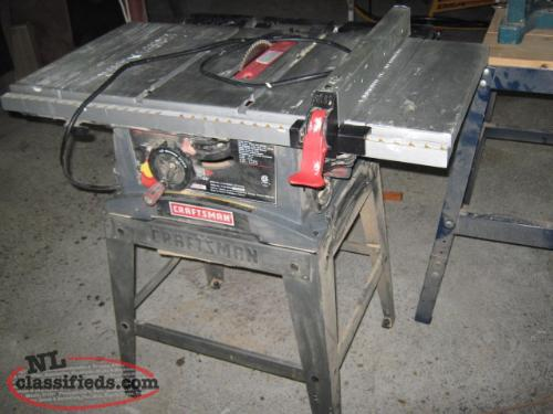 10 inch craftman table saw st anthony newfoundland for 12 inch table saw