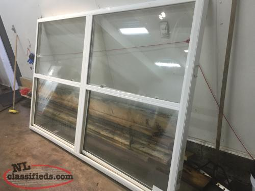 "96"" x 62"" Dbl single hung solid vinyl window"