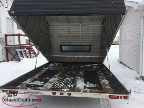 Blizzard Clam Shell Double Aluminum Trailer