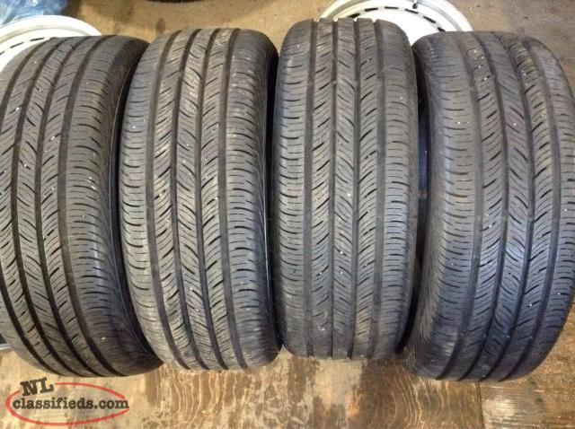 P215/55R16 All Season Tires (Practically Brand New Condition)