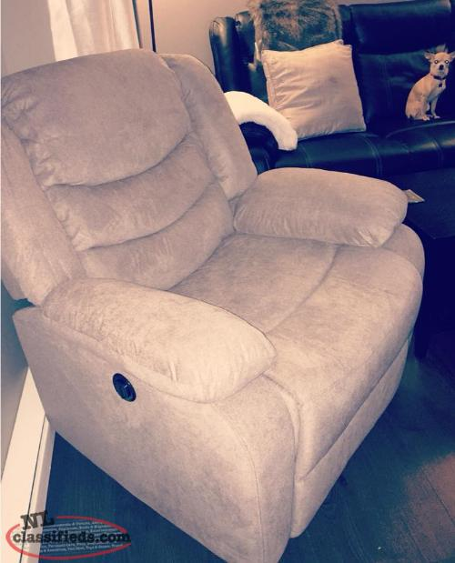 Brand New with tags, grey electric powered recliner