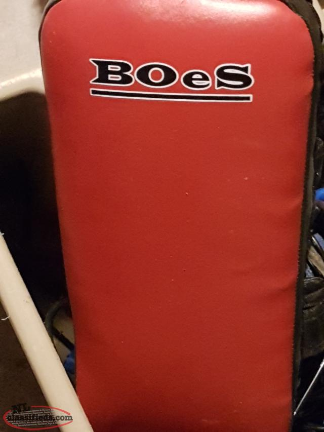 boxing and kicking pads