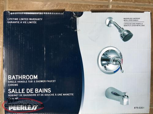 Peerless Single Handle Shower and Tub Faucet - Chrome - never used