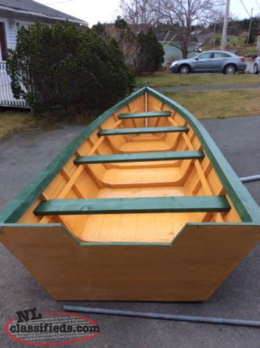 Brand New 18 by 6 Fiber over wood boat