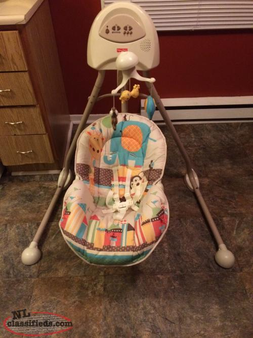 Fisher Price Cradle Swing- Unisex, Speeds,Music,Sounds,Positions,etc