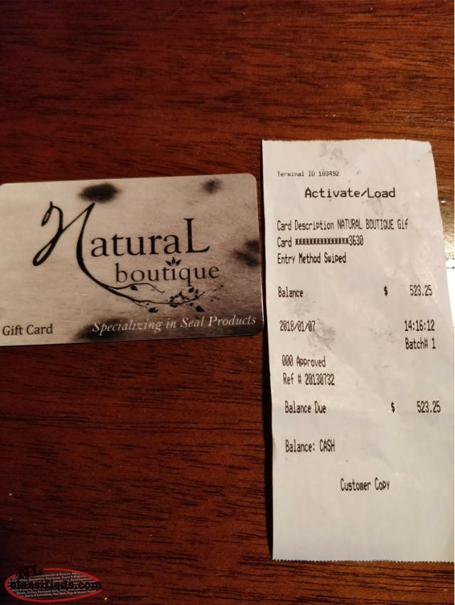 Natural Boutique - Gift Card