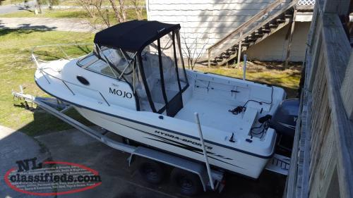 04 HYDRA SPORTS LIGHTNING 212 150 HP YAMAHA 4 STROKE AND TRAILER