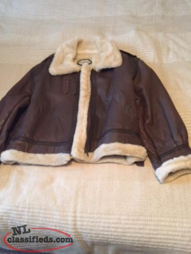Ladies Aviator style leather jacket