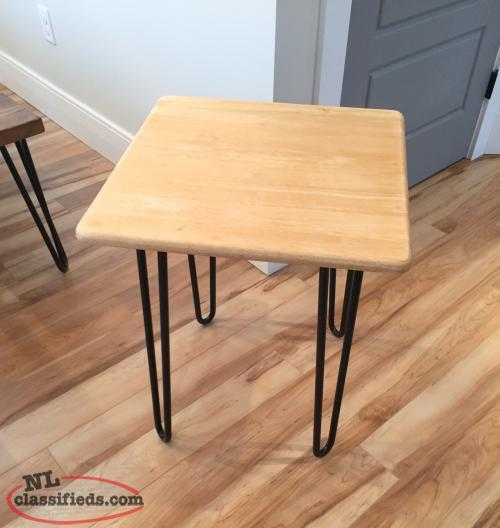 Solid Oak Hairpin Leg Coffee And End Tables Upper Island Cove Newfoundland Labrador Nl