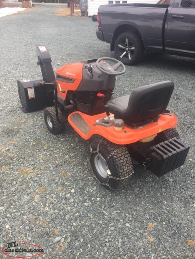 Husqvarna Lawn Tractor Snow : Husqvarna yth lawn mower with snow blower attachment
