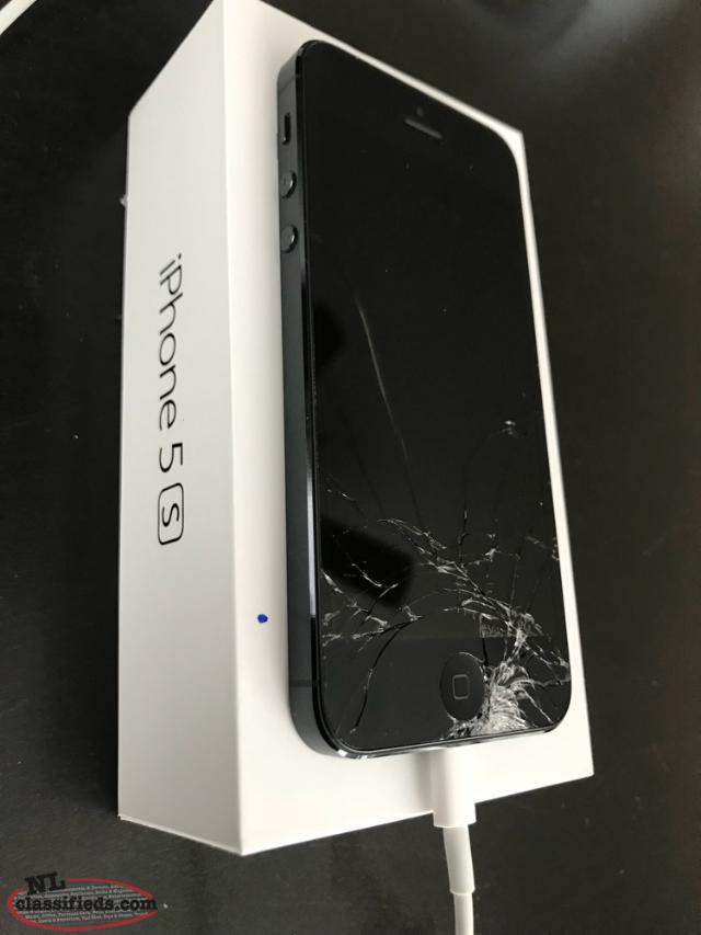 iphone 5s cracked iphone 5s with broken screen logy bay newfoundland 6622
