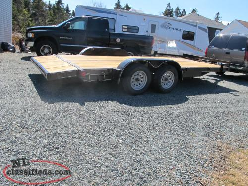 For Sale 2018 New Car Hauler 18ft, 3500 lb axle with ramps.