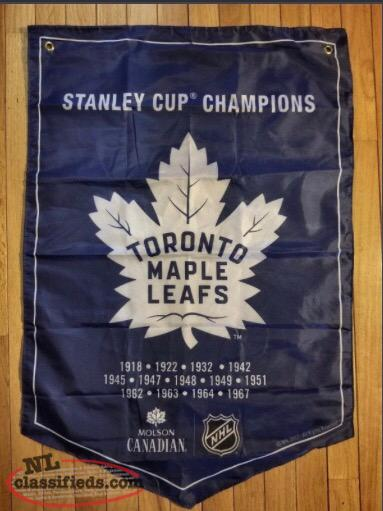 Molson Coors NHL Stanley Cup Banner Toronto Maple Leafs $30