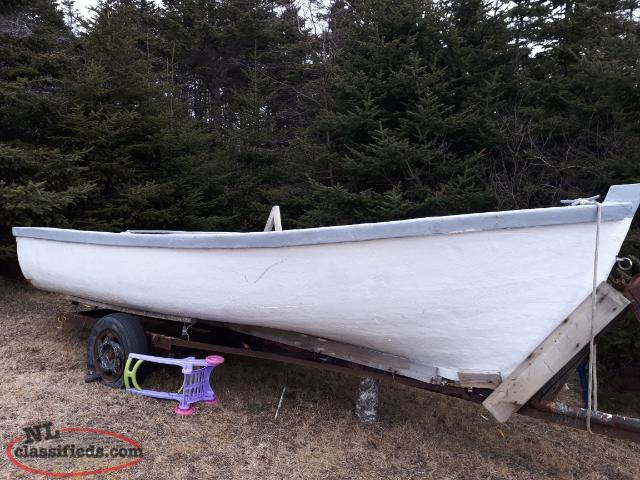 17 foot fiberglass over wood boat