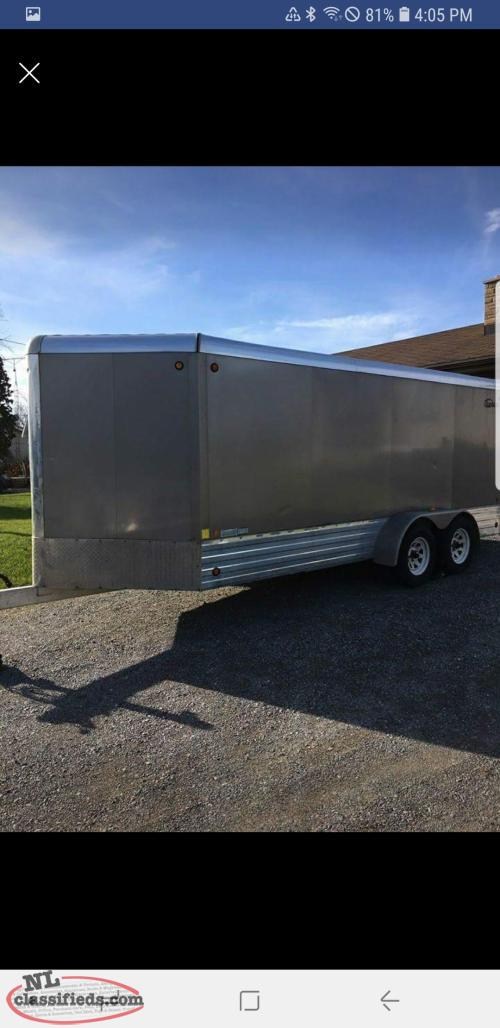 2006 All Aluminum 18' plus 2' V nose enclosed trailer