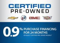 0.9 % PURCHASE FINANCING on select GM Certified Pre-Owned vehicles!