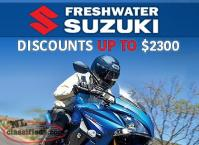 Save up to $2300 on remaining 2016 bikes at Freshwater Suzuki!