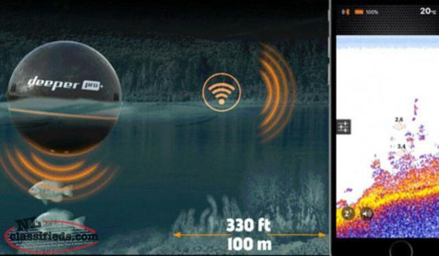Deeper pro plus sonar fish finder mount pearl for Deeper pro plus fish finder