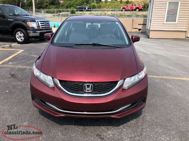 2014 honda civic lx safety inspected with 1 year for Honda civic warranty