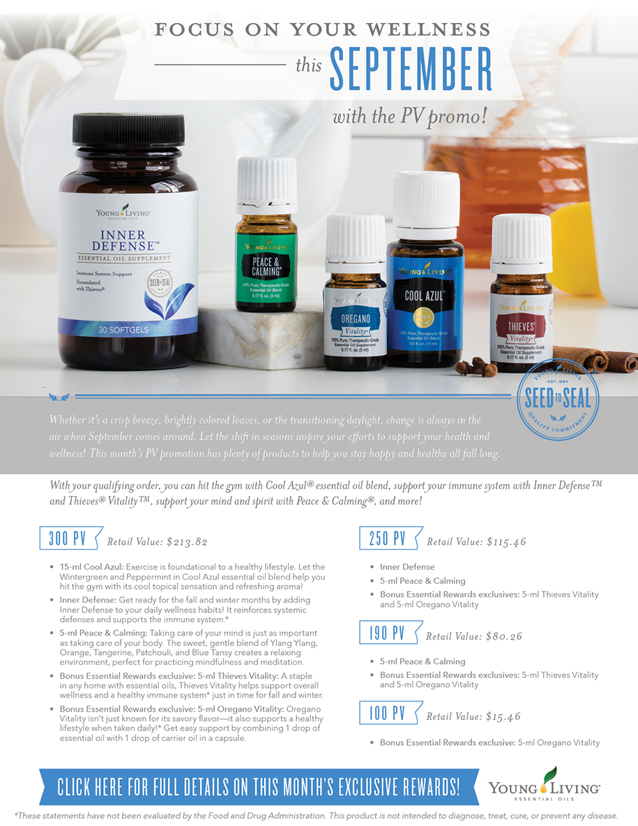 Young Living September PV Promos