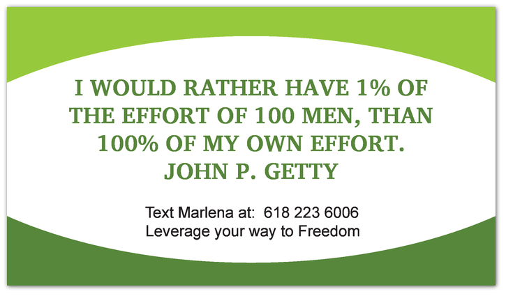 Leverage your way to freedom