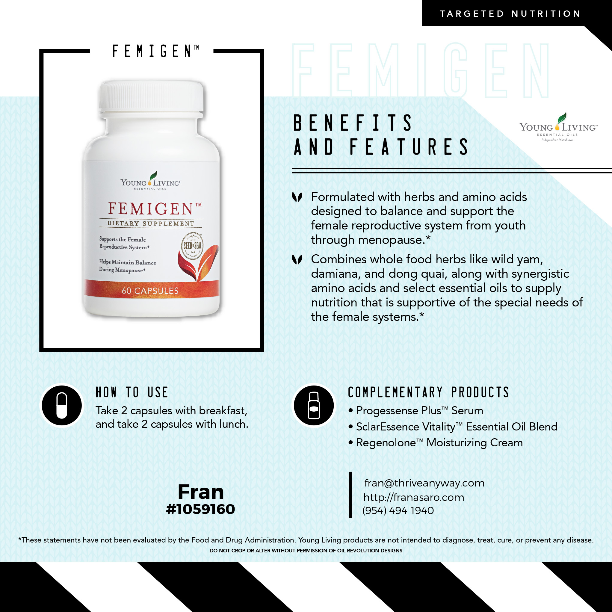 FemiGen by Young Living with Fran Asaro Stuart Florida