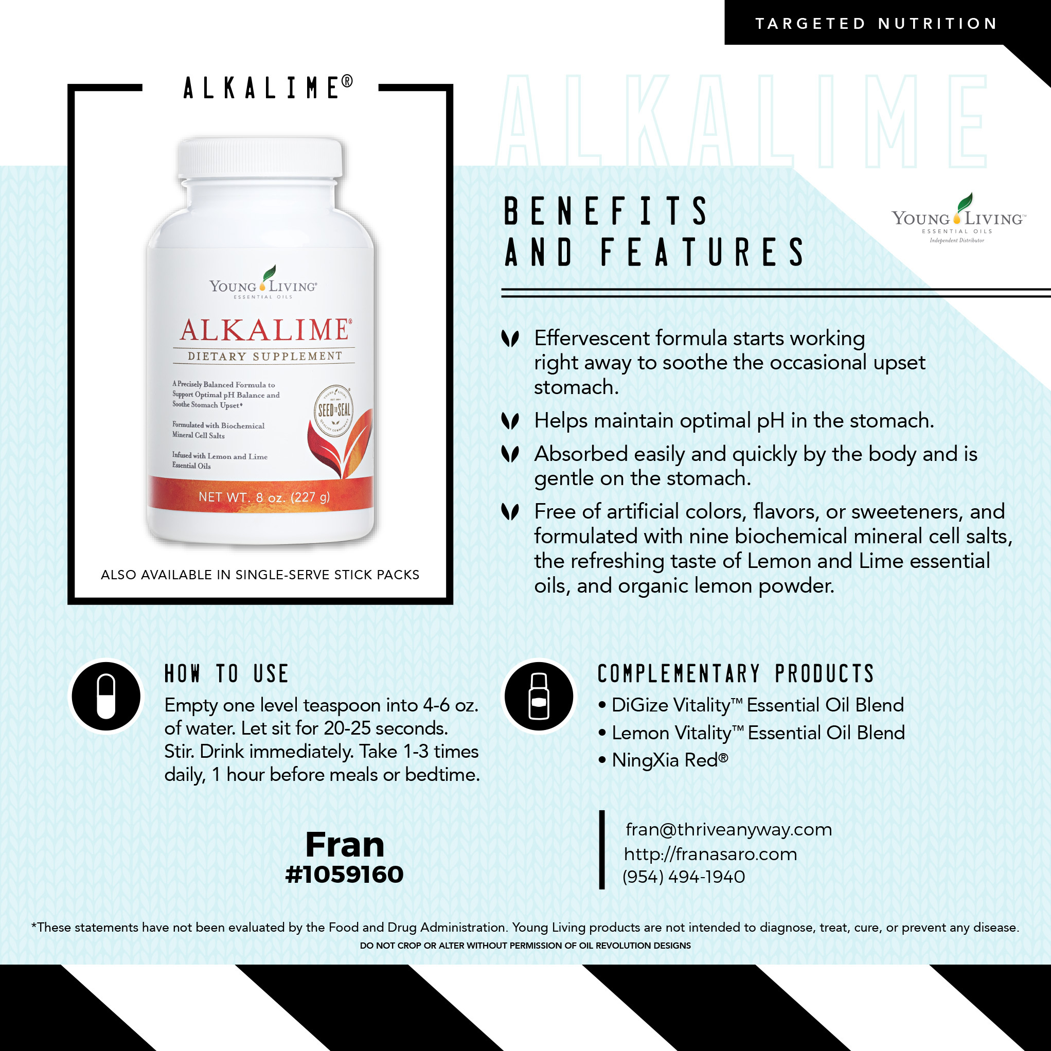 Alkalime by Young Living, Fran Asaro Stuart Florida Thriving with Oils