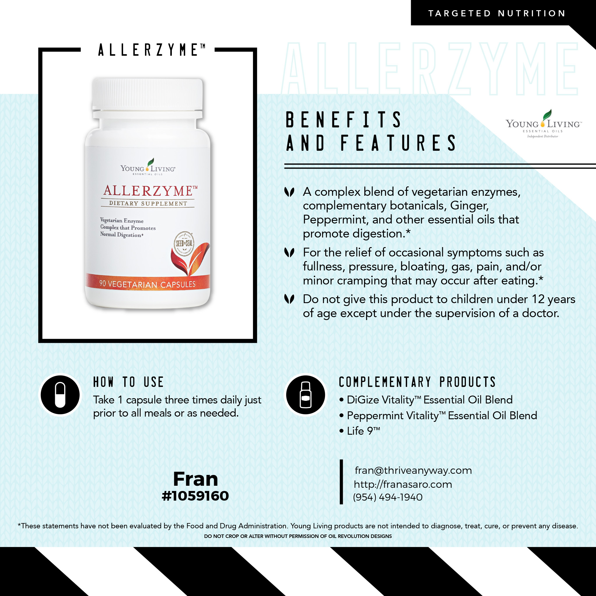 Allerzyme by Young Living, Fran Asaro Stuart Florida Thriving with Oils