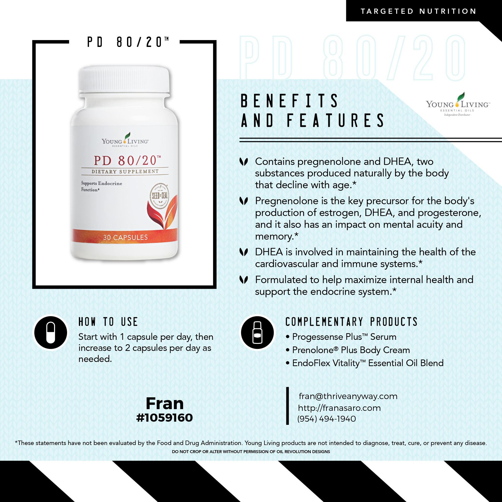 PD 80/20 by Young Living Essential Oils and Fran Asaro Stuart Florida