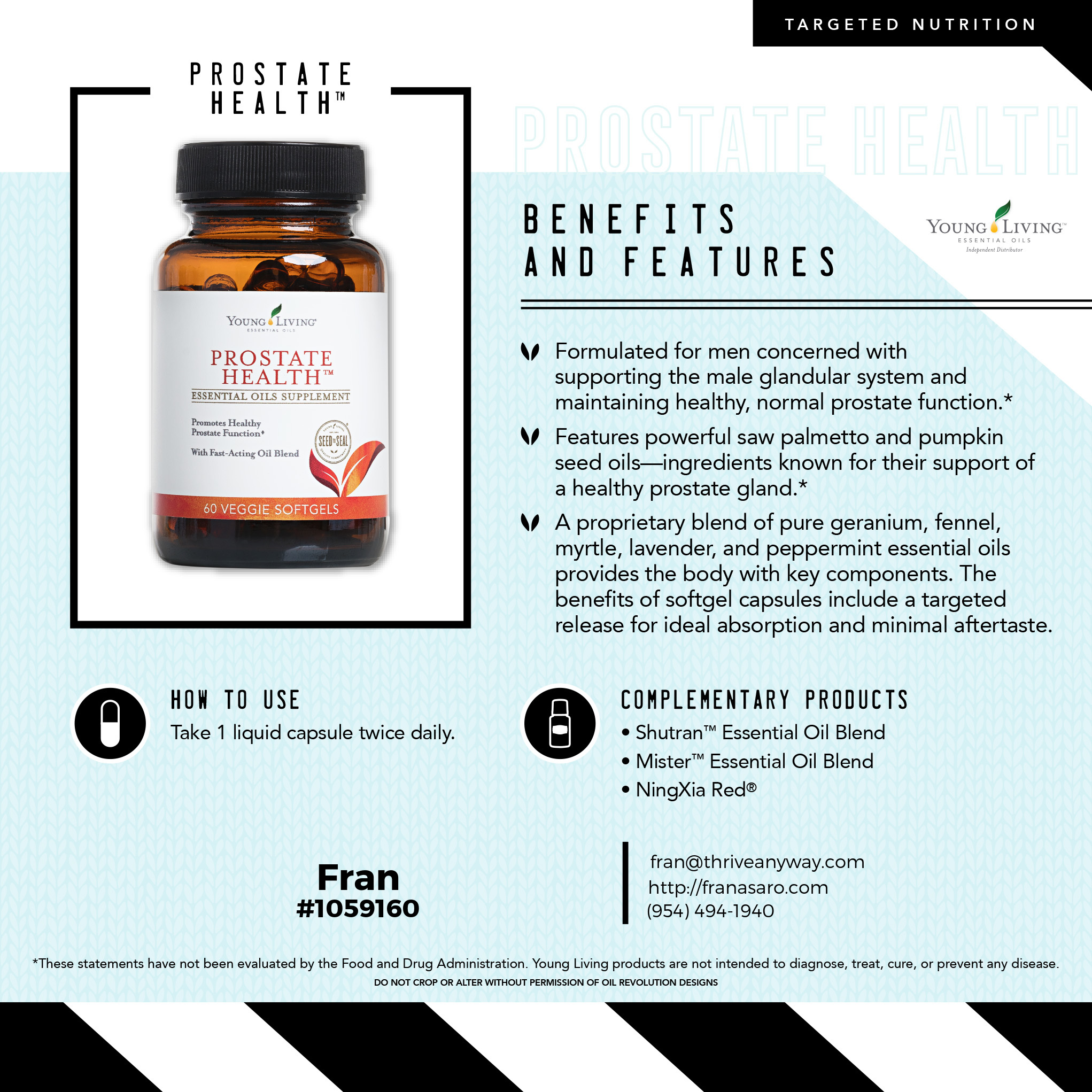 Prostate Health by Young Living with Fran Asaro Stuart Florida
