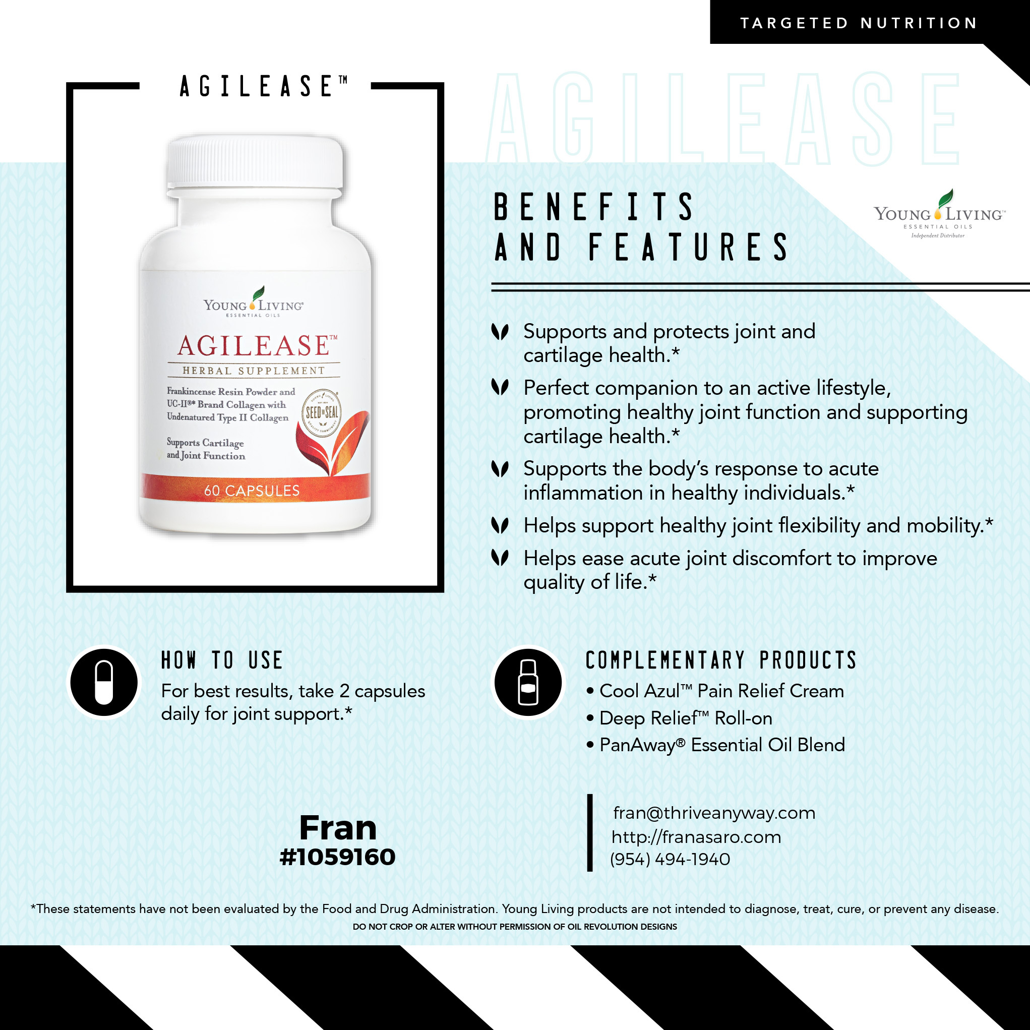 Agilease by Young Living, Fran Asaro Stuart Florida