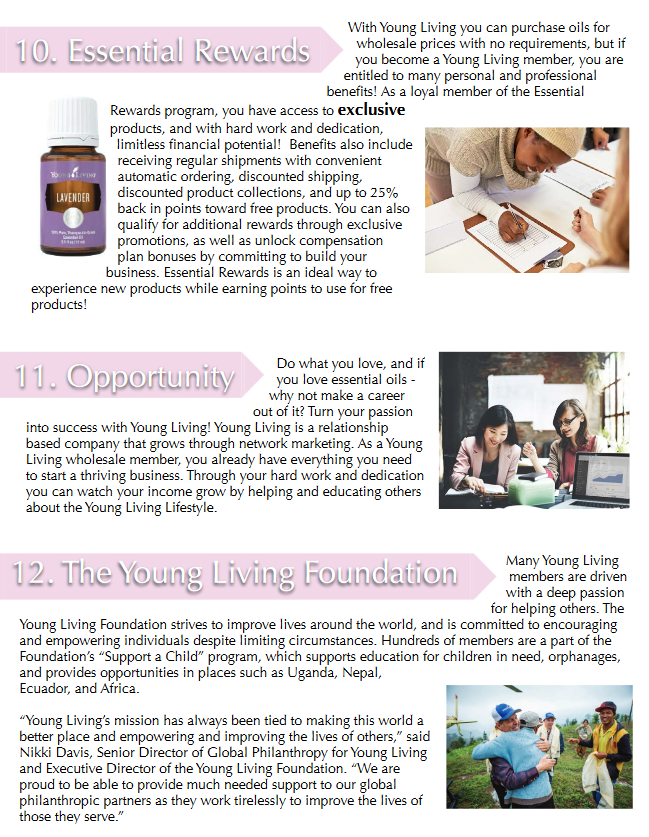 12 Reasons to Choose Young Living