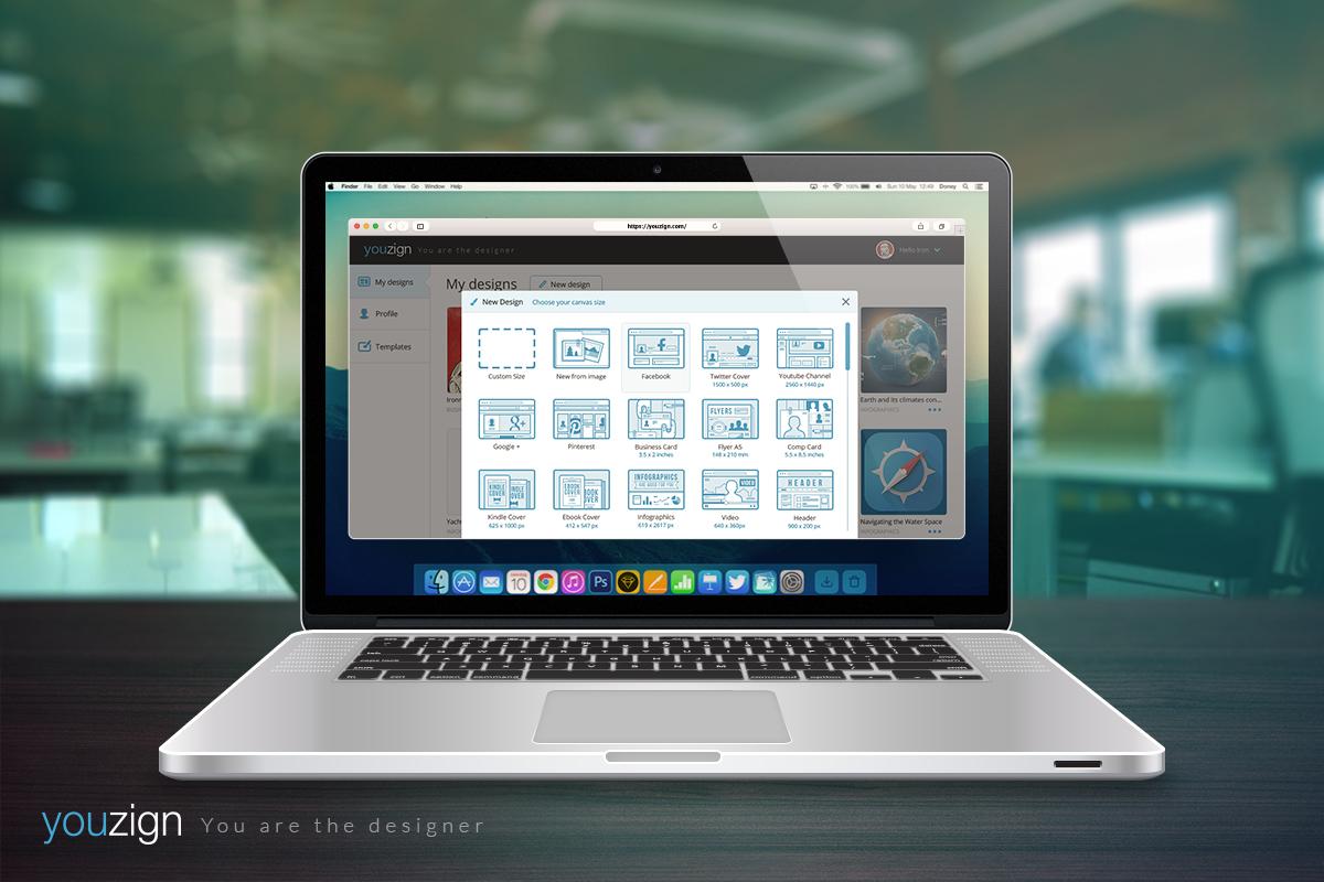 New Design pop-up in Macbook 1200 x 800 px