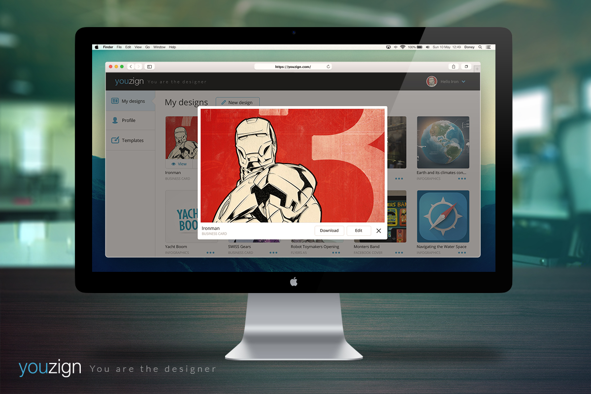 View pop-up in iMac