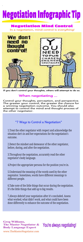7 Ways to Control a Negotiation